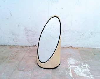"Psyche ""lipstick"" or ""shell"", vintage 1970's mirror, decorative retro seventies"