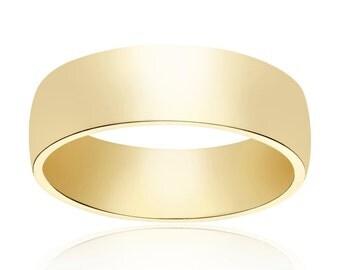 5.8mm 14K Yellow Gold Wedding Band