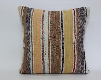 Bohemian Kilim Pillow Throw Pillow 24x24 Striped Kilim Pillow Home Decor Cushion Cover Bed Pillow Cushion Cover SP6060-812