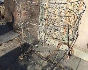 Antique Wire Laundry Basket