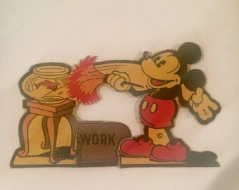 1930's Mickey Mouse Cereal Box Cut Out Cleaning Antique