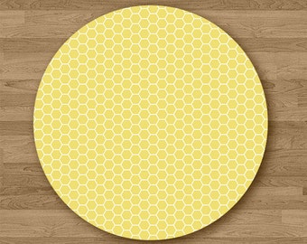 Honey Comb Round Mouse Pad Office Desk Accessories Gift