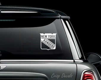 New York Rangers Vinyl Decal, Bumper Sticker, Laptop decal, Yeti, Tumbler, Decal