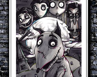 Your Dog Is Alive - A4 Signed Art Print (Inspired by Frankenweenie)