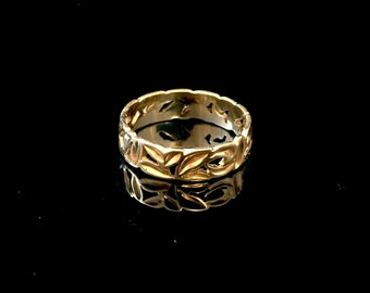 14k yellow old ring, Size 8