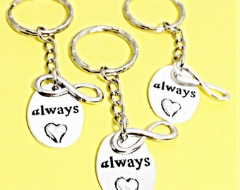Always pendant, always harry potter, always keychain, always humble and kind, always and forever jewelry, keychain gift, always love you