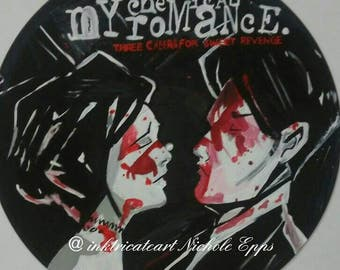 My chemical romance hand painted album art