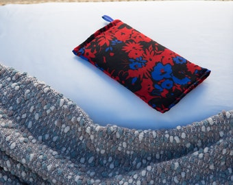 Herbal Rice Pillow in Red And Blue Floral