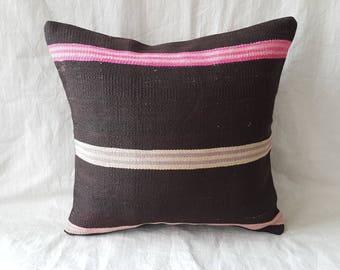 "18""×18""inches Kilim Pillow Cushion Throw Pillow Turkish Kilim Design Decorative Tribal Ethnic Authentic Cover Home Decor Aztec Pillow"