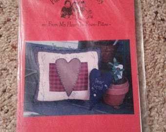 From my Heart to Yours #61 - Patrice and Company - Stitchery Heart Pillow - Uncut Craft Pattern