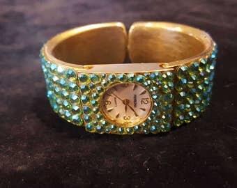 Blue jeweled Persona watch