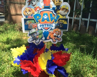 Paw patrol centerpiece for you party