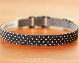 Lovely Dots Cat Collar – Black