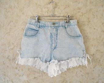 Side lace up shorts   Etsy