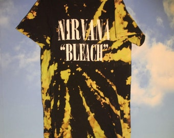 NIRVANA Bleach tie dye shirt