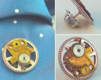 Steampunk, Tie tack, dapper gent, steampunk pin, steampunk tie tack, lapel pin, steampunk lapel pin, handmade steampunk, pin, steampunk #4