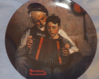 """Norman Rockwell """"The Story Teller"""" 6463D Collectors Plate Limited Edition"""