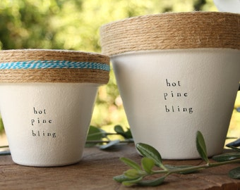 """6"""" Drakes' Hot Pine Bling » Indoor and Outdoor Pot or Planter Small"""