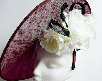 Large Burgundy dics headpiece