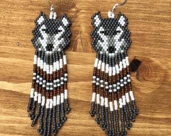 Myuki Delica Wolf Earrings