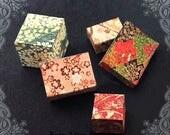 5 JAPANESE Miniature Gift Box Set –1:12 PRINTABLE Asian Dollhouse Miniature Gift Boxes Chiyogami Flower Japanese Gift Box Printable DOWNLOAD