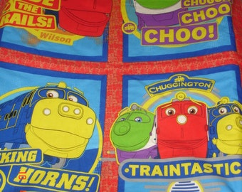 CHUGGINGTON RAILWAY TRAINS Brewster, Kolo & Wilson Handmade Child or Baby Quilt New