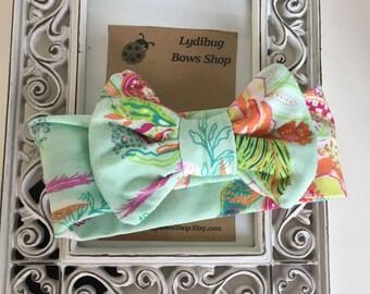 Baby Knit Headbands- paisley headbands- jersey knit headbands