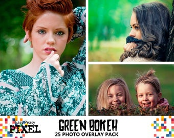 GREEN BOKEH OVERLAYS, Bokeh Overlays, Photoshop Overlays, Bokeh Lights, Green Overlays, Nature, Saint Patrick's Overlays, Lights Overlays
