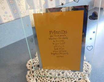 Friends Decorative Standing Plaque  with Musical Saying