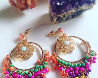 Dangle Chain Tassle Earrings