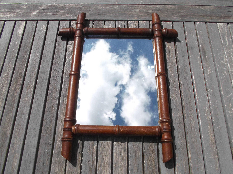 miroir ancien bois fa on bambou ancien miroir pais avec. Black Bedroom Furniture Sets. Home Design Ideas