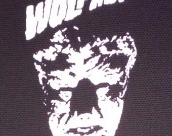 The Wolfman / Wolf Man PATCH canvas HORROR - Universal Monsters, Lon Chaney Jr.