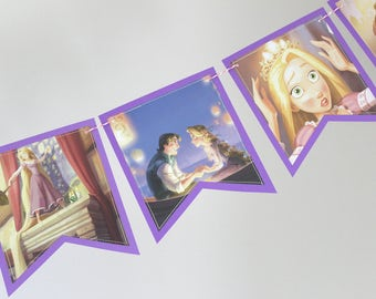 Disney's Tangled - Recycled Book Bunting - Nursery or Party Decoration