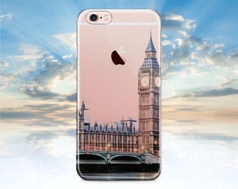 iPhone 7 Case London iPhone 7 Plus Case iPhone 6 Case Clear with Design iPhone 6S Case Clear Galaxy S8 Case Rubber Samsung Galaxy S7 Case