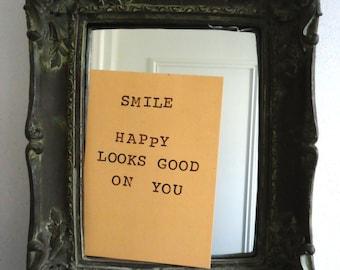 Postcard SMILE, happy looks good on you