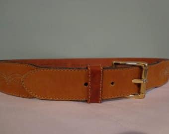 Schuchard & Friese Croc. Print Leather Belt Made in W. Germany Sz. 32