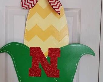 Nebraska Corncob Door Hanger