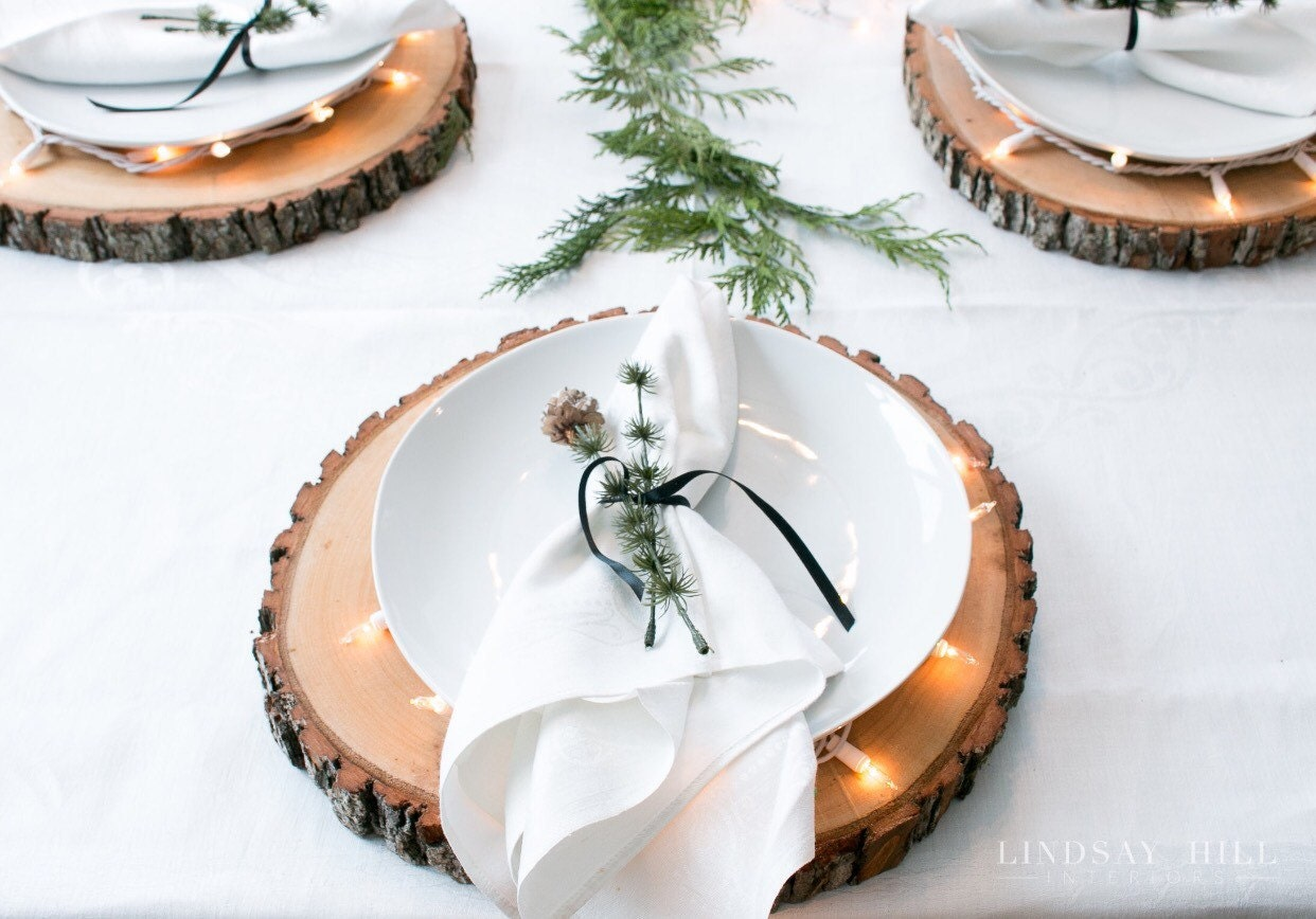Set of wood centerpieces slices for sale