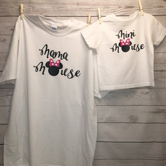 Mommy And Me Shirts Disney Shirts Minnie Mouse Shirt Disney