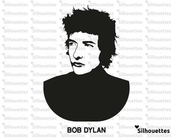 SVG | Bob Dylan illustration silhouette  eps, svg, dxf,  png Vector Instant DOWNLOAD for  Vinyl Die Cut Crafts. Vinyl Cutting , Wall Decal