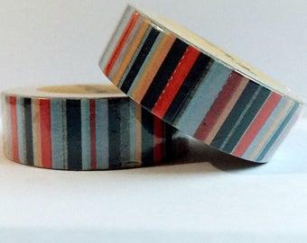 Stripes or spots washi tape 15mm x 10m