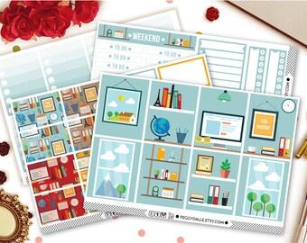 Office Boss Erin Condren Vertical Kit Planner Stickers | Weekly Kit Stickers | Office stickers | Work Stickers | Weekly Sticker Kit