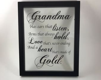 Picture Frame, Grandma, Name Sign, Family, Grandparents, Picture Frame, Mothers Gift, Christmas, Christmas Gifts, Grandparent gift, Birthday