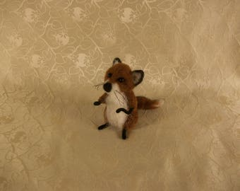 Needle Felted Fox, Baby Fox, Little Fox Cub