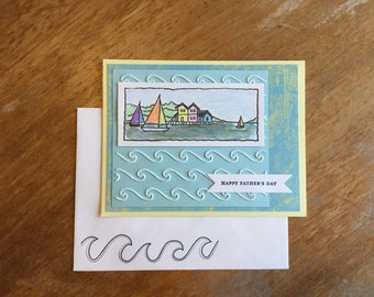 Sailboats and Waves Happy Father's Day Card