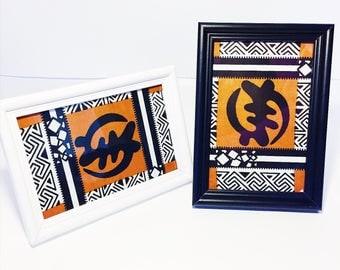 Gye Nyame Print // Adinkra Symbol Wall Art // African Print