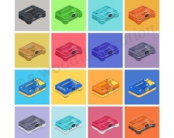 """N64 Consoles Retro Pixel Art Print 8"""""""