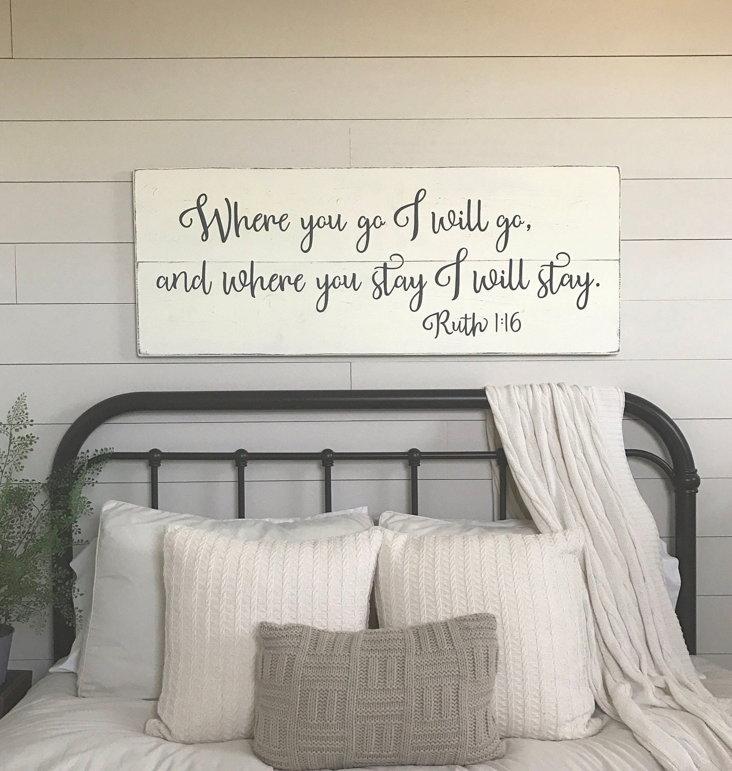 bedroom wall decor where you go i will go wood signs 10730 | il fullxfull 1175434966 o7bp