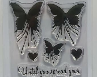 Mini Butterfly Blot - A7 Stamp set by Imagine Design Create
