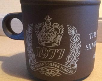 Hornsea Vitramic Queen's Silver Jubilee mug 1977